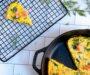 Spinach, Mushroom and, Smoked Salmon Cheese Frittata