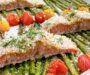 Crispy Sheet Pan Salmon with Veggies